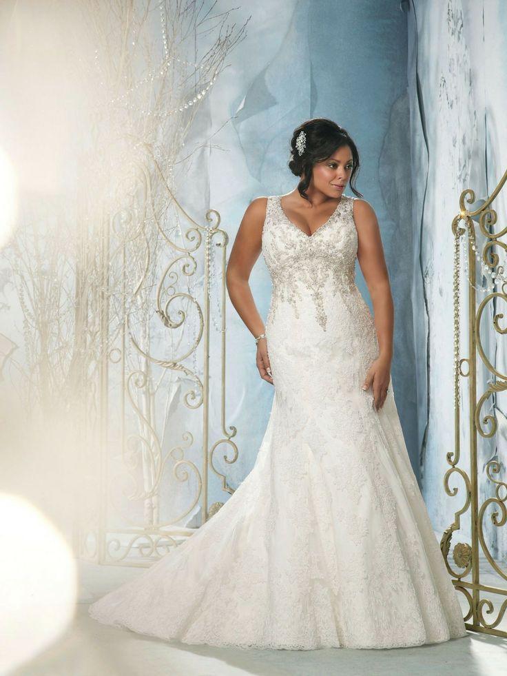 Deep v cou taille plus robe de mariée sirène robes de mariée sexy dos ouvert pour femme 2013 nouveau style