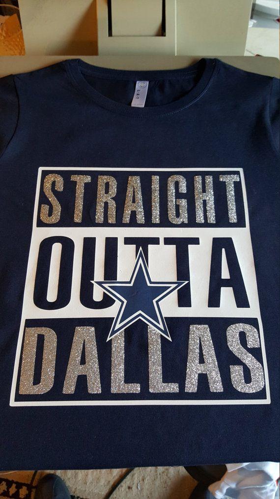 Straight Outta Dallas Dallas Cowboys Custom Tshirt Gift by C2CTeez