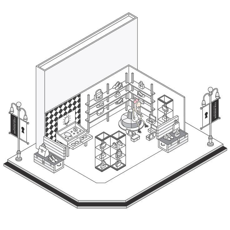 Club Designer   Website Illustration on Behance