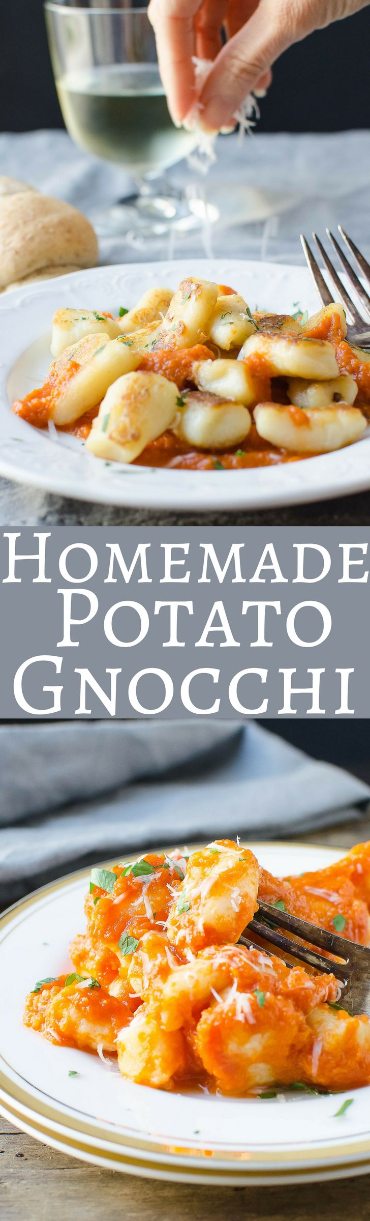 A classic recipe for homemade potato gnocchi! This one makes pillowy soft dumplings and can be frozen for a quick dinner anytime!