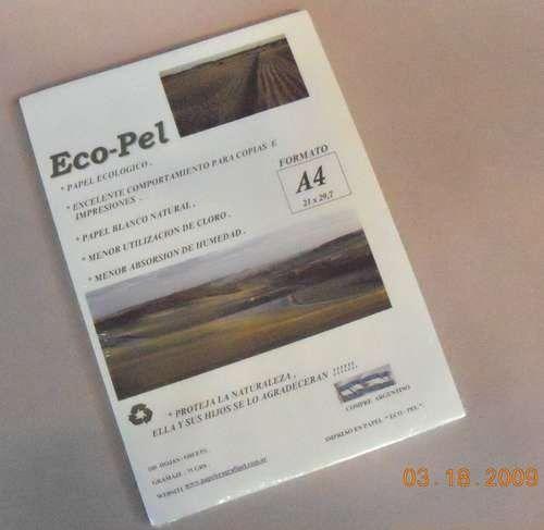 Resma Papel Ecologico A4 75 Grs Consultar Envio Gratis - $ 6,95