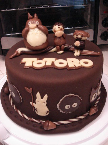 Totoro chocolate Cake! My kids would love this!!! :D