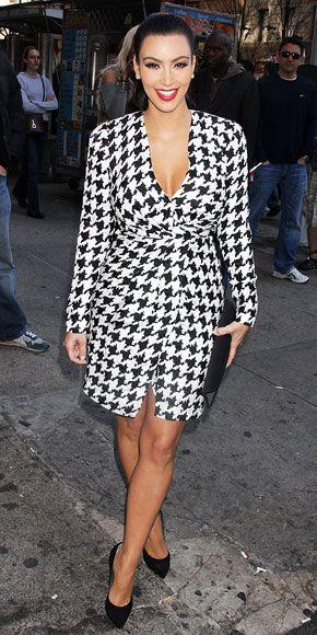 Kim Kardashian in Salvatore Ferragamo houndstooth dress and Casadei pumps: Celebrity Style, I Ll Dress, Classy Style, Ferragamo Style, Fashion Role, Celebrity Fashion, Kardashian, Casadei Pumps, Houndstooth Dress