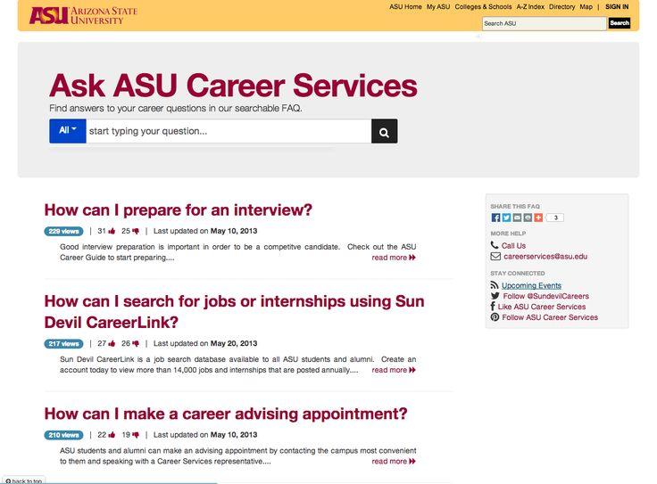 Arizona State University Career Services