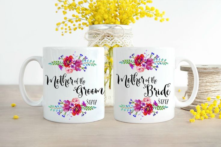 Mother of the Bride, Mother of the Bride Gift, Mother of the Groom, Mother of the Groom Gift, Mug Set, Coffee Mugs, Mom Wedding Gift,
