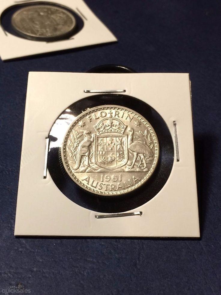 Florin 1961, QE II, good condition by jones101 - $16.00