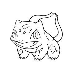 bulbasaur a colorier - Recherche Google   Dibujos para ...