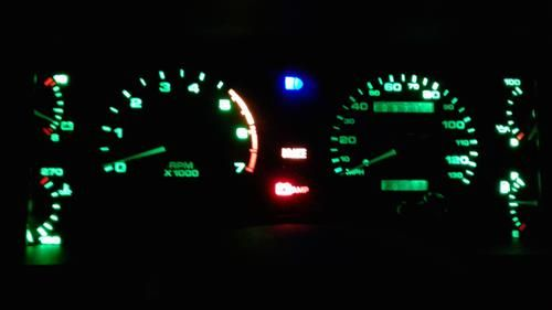 1979-93 Mustang LED Instrument Cluster Bulbs Green by Scott