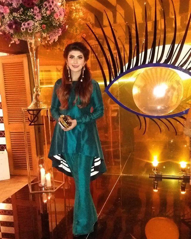@rabiyaumairabid Creative Director of @zhooshmeup all smiles at her successful launch right now at #CosaNostra #Lahore. #zhooshmeup