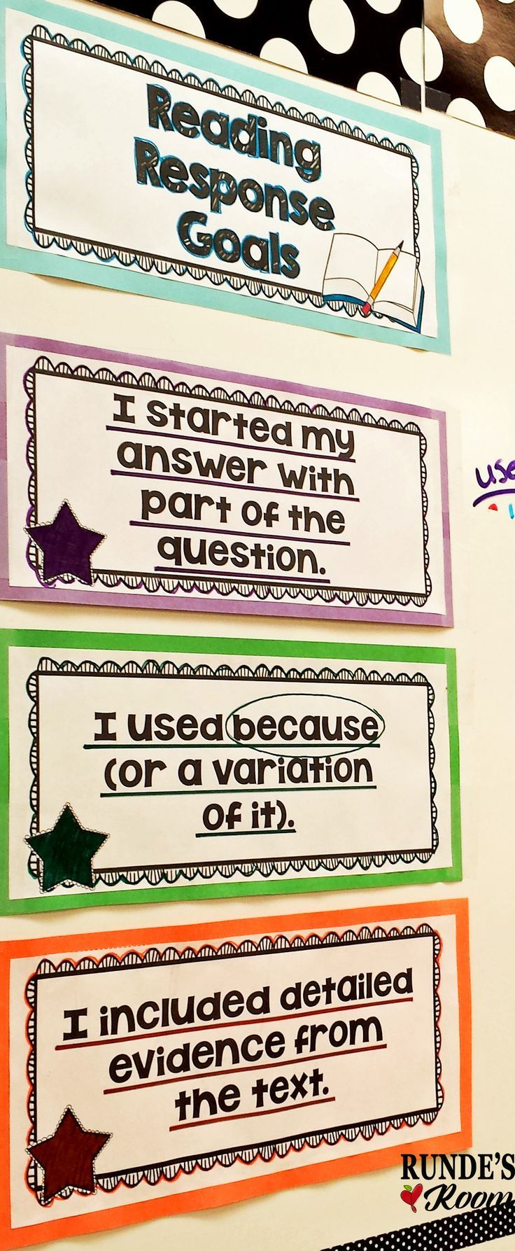 LOVE these scaffolded reading response goals - my students' responses have grown so much from the beginning of the year.