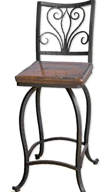 Alexander 30quot Swivel Bar Stool No Arms Traditional Stools Throughout Rod Iron With Regard To House