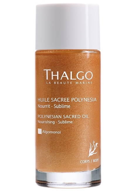 THALGO Polynesian Sacred Oil is a beautiful dry oil to hydrate the skin without a heavy finish, leaving glow to the skin. Perfect for summer or any special evening out!