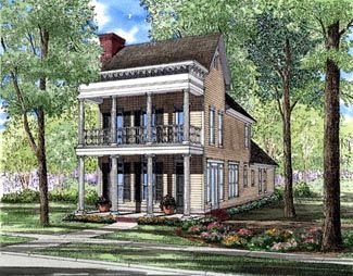 House Plan 61061 | Colonial   Southern    Plan with 2177 Sq. Ft., 3 Bedrooms, 3 Bathrooms, 2 Car Garage