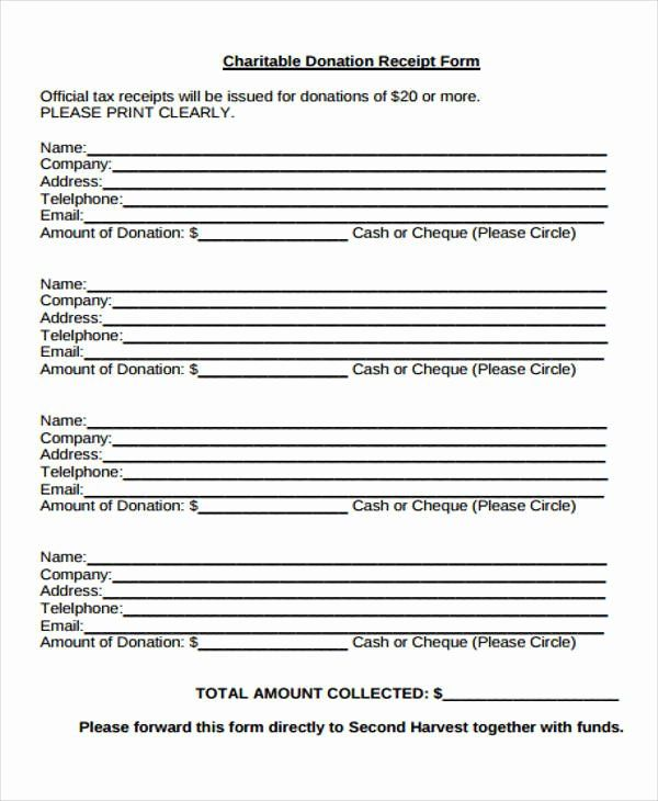 Charitable Donation Form Template Awesome 36 Printable Receipt Forms Donation Form Charitable Donations Donation Request Letters