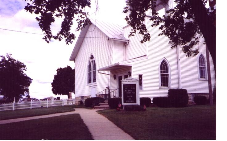 Adario Methodist Church, Richland, Ohio, where my 4th great-grandparents, James and Rebecca Robison, attended services...