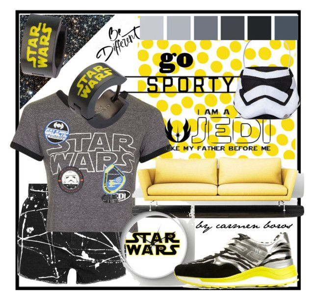 """""""star wars  ..."""" by boroscarmen ❤ liked on Polyvore featuring Yves Saint Laurent, Jennifer Paganelli, Topshop and Hogan Rebel"""