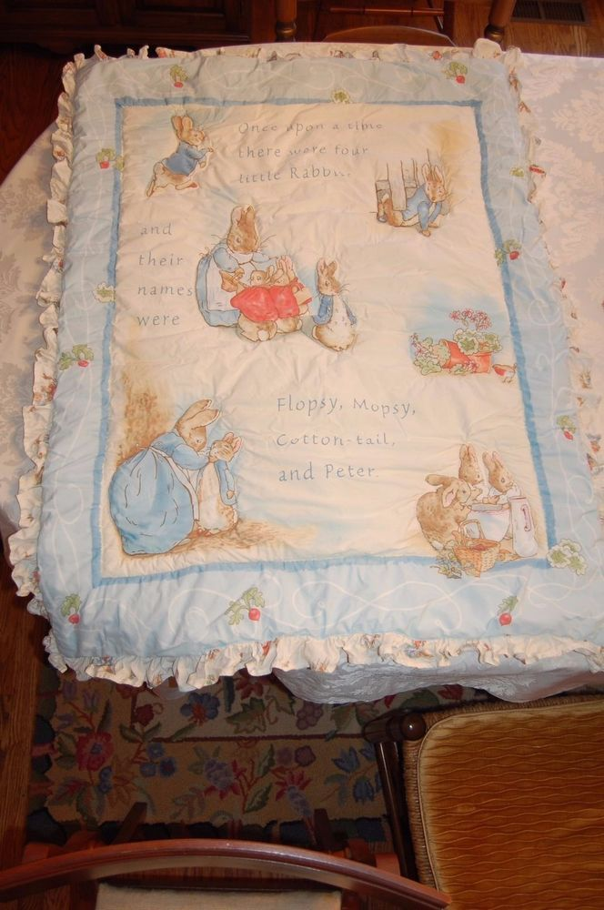 Beatrix Potter Peter Rabbit Baby Crib Bedding Set Bumpers