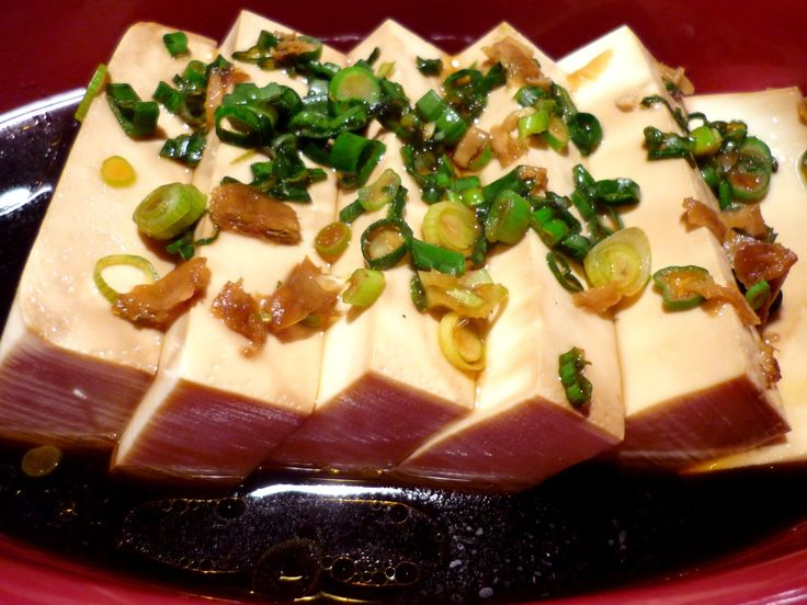 Steamed Tofu + Ginger + Soy Ingredients 1 package soft
