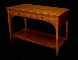 Cherry And Bubinga Console | Dorset Custom Furniture | Dan Mosheim