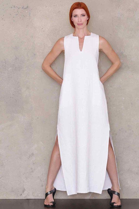 Caftan Maxi Dress Summer Linen Dress Pattern Pdf Sewing