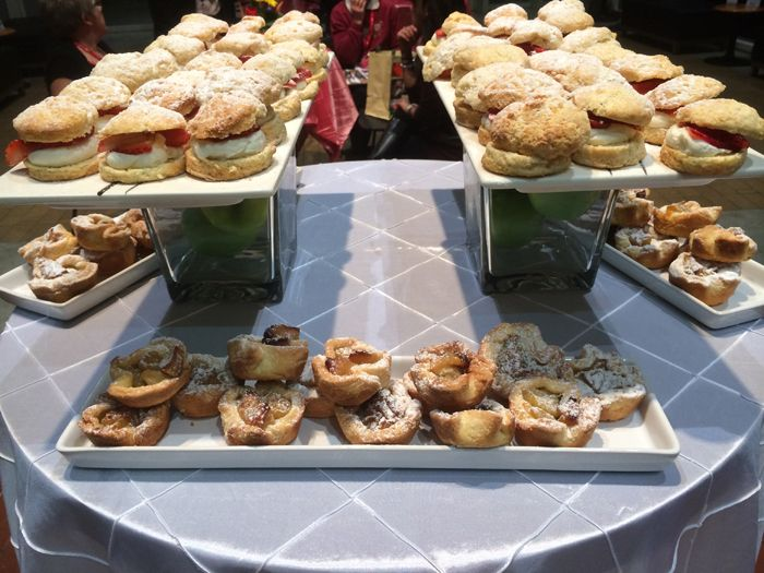 Here is our final station with our mini strawberry shortcakes and our apple tarts