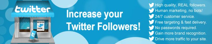 Buy Twitter Followers from GrowSocialFans.com. Our high quality Twitter followers service gives you free targeting as well as fast delivery and we offer 24/7 customer service as well. Learn more about how our service can help you dominate the competition at http://www.growsocialfans.com/buy-twitter-followers today.