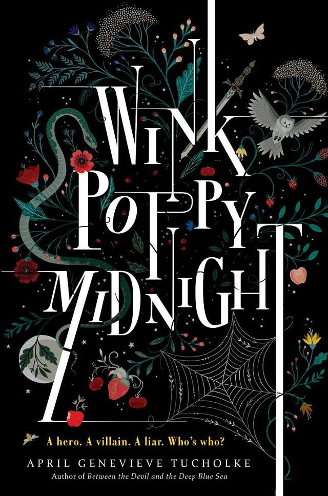 "Book cover design for ""Wink poppy midnight"" by Tucholke // Illustrator: Lisa Perrin is an award winning illustrator and designer and finds her inspiration in folk art, Victorian decorative arts and the natural world."