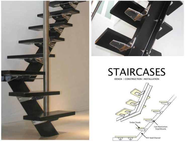17 Best images about Stair Single Stringer on Pinterest | Industrial, Metals and Openness