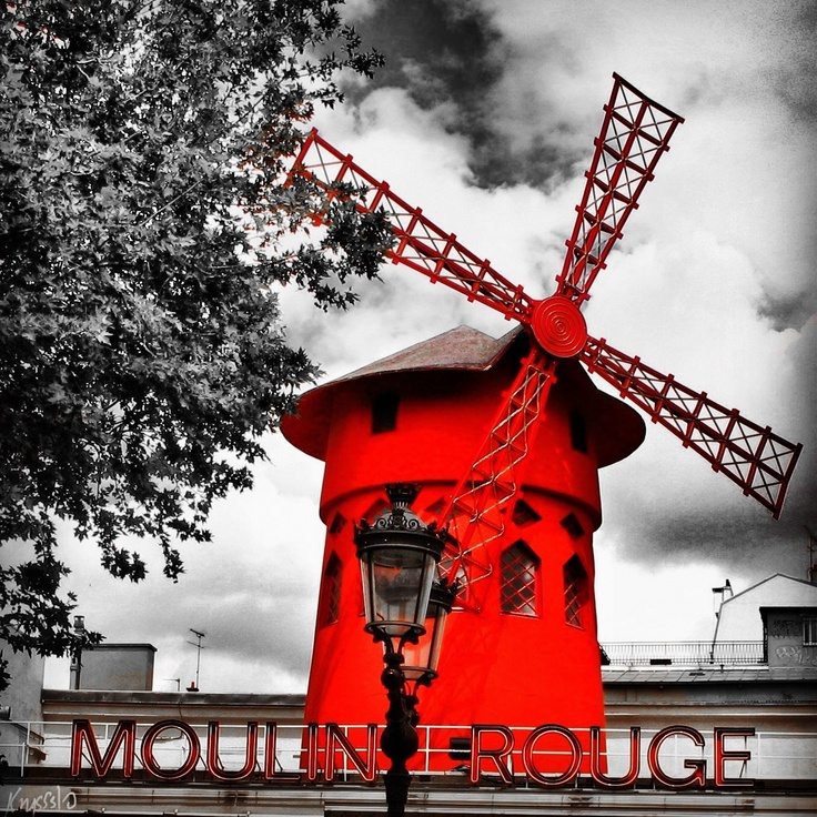 Moulin rouge colour splash, Paris, France @krysss10 instagram