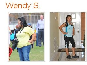 """Real people, real results with P90X and Shakeology: Wendy is a 33 year old woman from Florida. She lost more than 40 pounds and 15 inches off her waist. Wendy has four children and was diagnosed with Celiac disease. In Wendy's words: """"Shakeology has been the biggest part of my weight loss success so far. Once I knew that Shakeology was gluten free, that it had digestive enzymes, prebiotics....at that moment I knew that this something that I NEEDED."""""""
