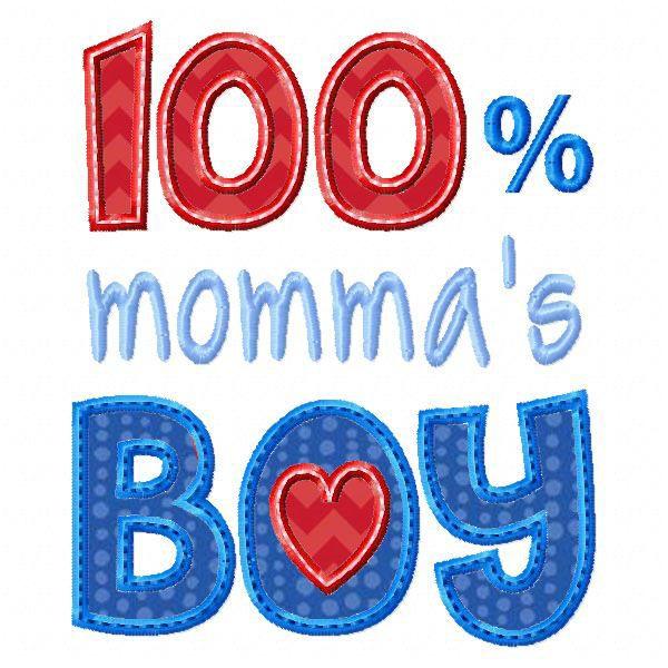 100% Momma's Boy Applique