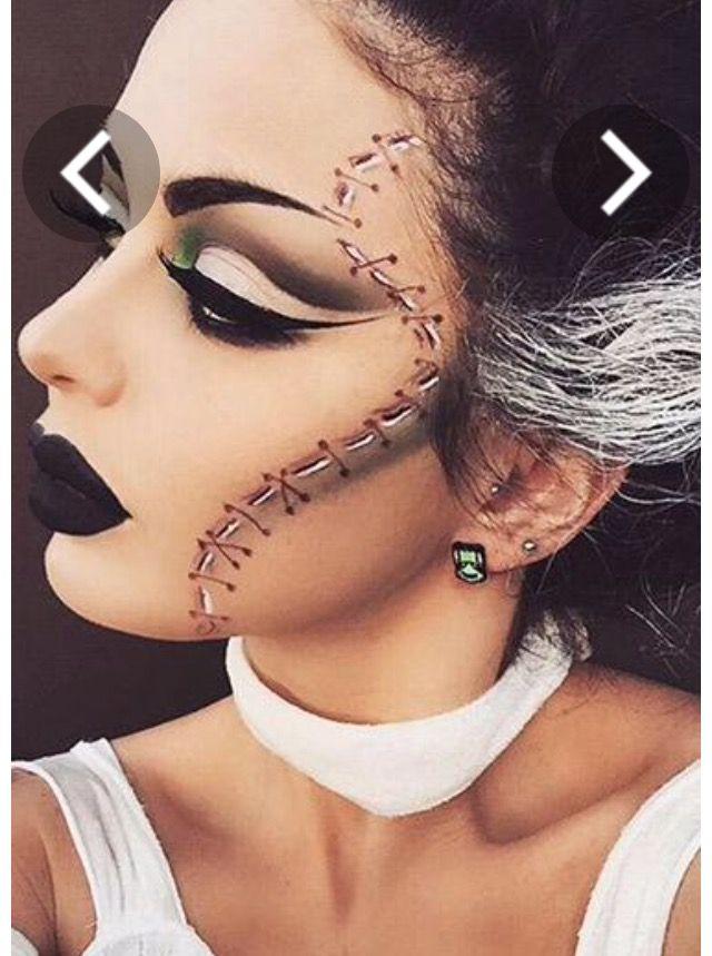 Maquillaje novia de frankenstein
