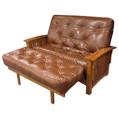 Gold Bond 9 Foam And Cotton Loveseat Size Futon Mattress Upholstery Saddle Brown
