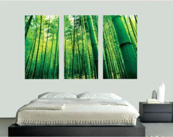 Bambou Stickers muraux décoration murale, sticker bambou, bambou mur Art Designs, amovible Art Stickers muraux bambou, grand salon bambou Art, c67