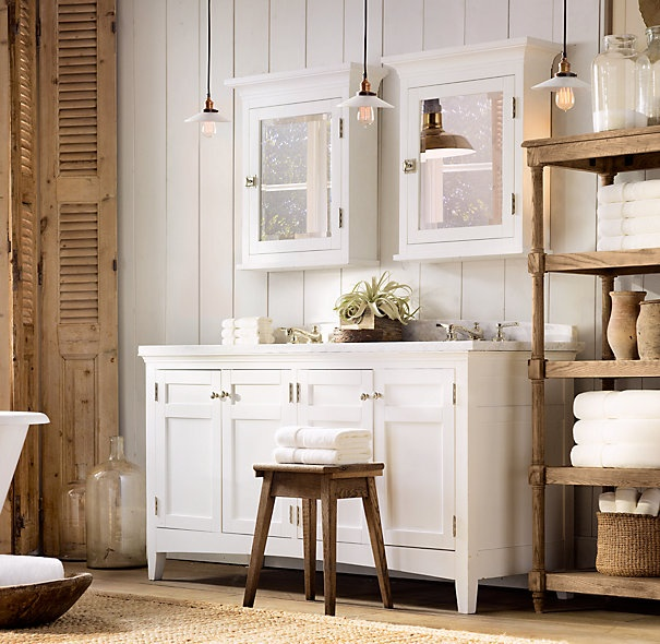 Cartwright Double Vanity Restoration Hardware Bathroom