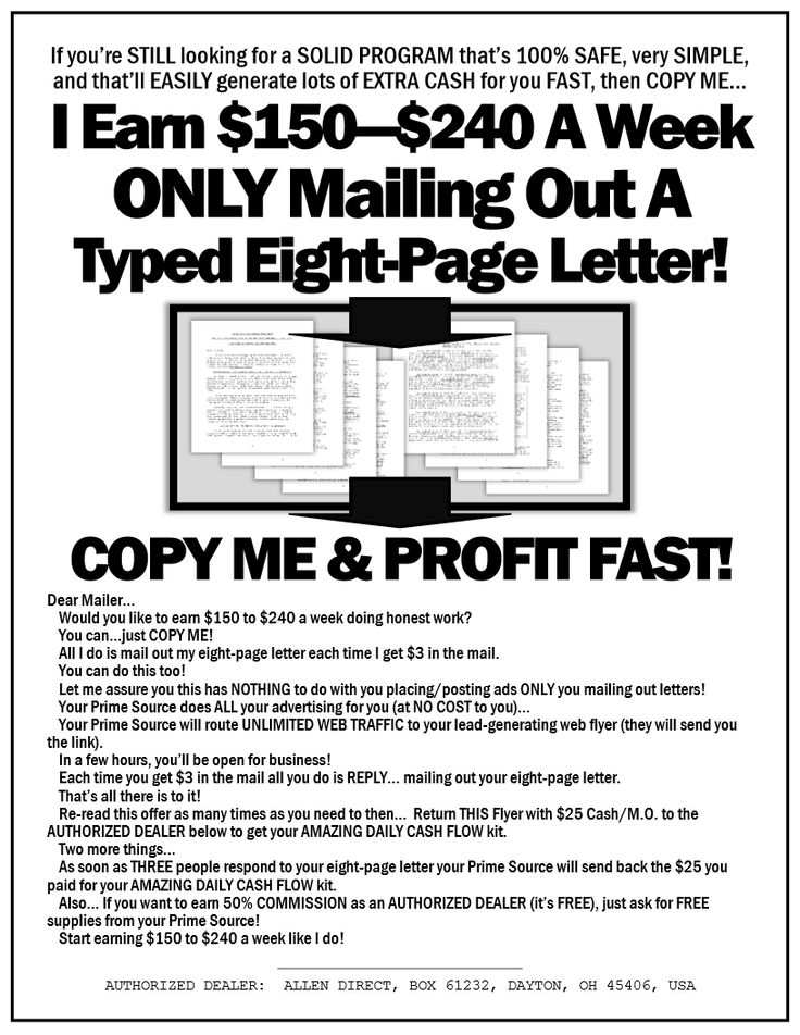 Get Paid to Mail Letters