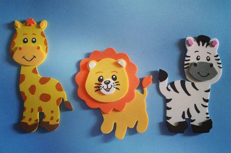 Animalitos de la selva en Foami