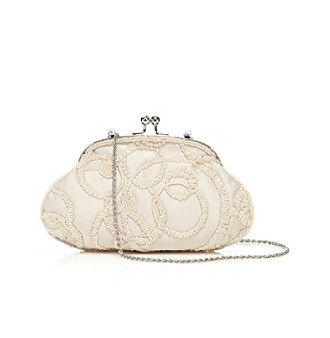 Mother-of-the-Bride Clutch   La Regale® Swirl Beaded Brocade Frame Clutch available at @Boston Store.