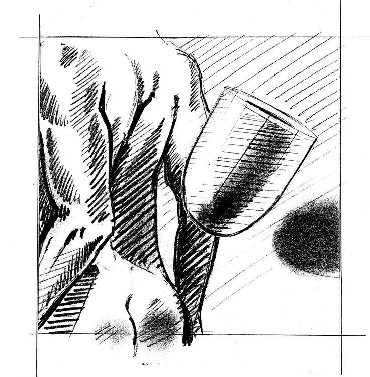 Man from behind. Drawing by Huub van Osch. Capi Europe. #capieurope  #blahblahism #huubvanosch #amsterdam