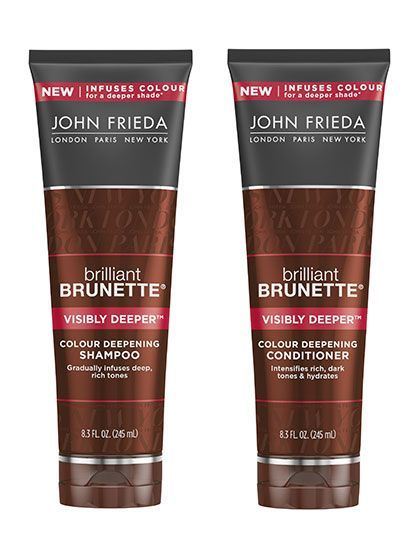 John Frieda Brilliant Brunette Visibly Deeper Colour Deepening Shampoo and Conditioner | allure.com