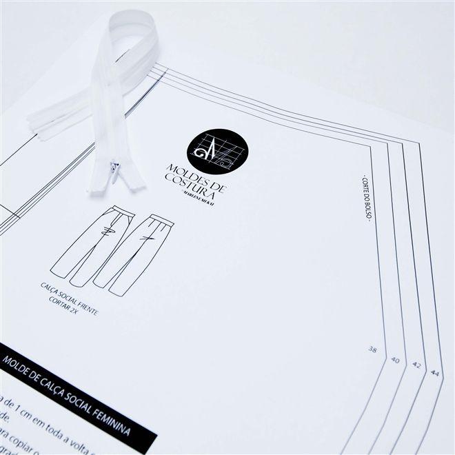 Os moldes da Marlene Mukai são práticos e prontos para uso, possuem medidas no padrão ABNT, além da margem que indica os lugares de corte.