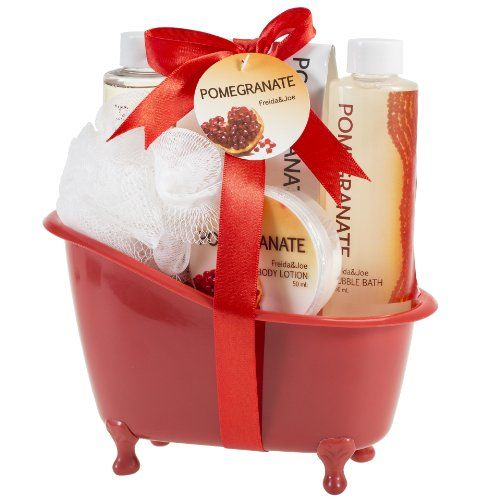Pomegranate Tub Bath Gift Set Freida Joe http://www.amazon.com/dp/B0065A0MCU/ref=cm_sw_r_pi_dp_.Frgwb01M2BZQ