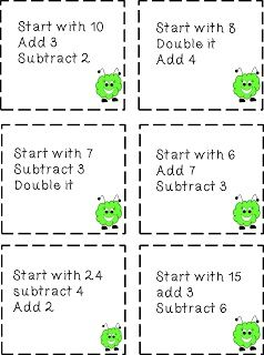 {Free} Mental Math Cards to help students use addition and subtraction strategies.  (Multiplication and Division Version available too for free.)