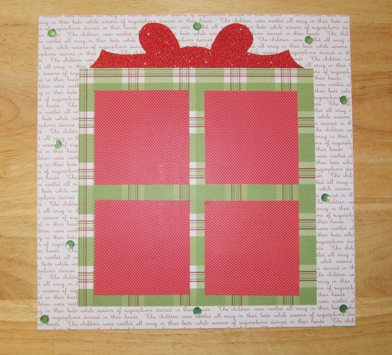 Christmas Present Scrapbook Page  Xmas by AngelBDesigns4You