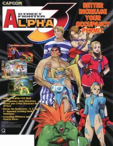 Street Fighter Alpha 3 (Capcom); The gameplay system from the previous Alpha games was given a complete overhaul with the addition of 3 selectable fighting styles based on Street Fighter Alpha (A-ism), Street Fighter Alpha 2 (V-ism), & Super Street Fighter II Turbo (X-ism). Several new characters were added including Japanese wrestler R.Mika, Karin & Cody from Final Fight.