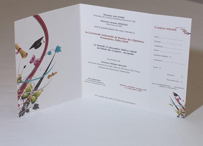Invitation remise des diplômes