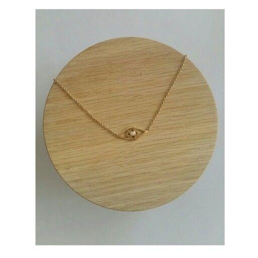 Oculus Necklace in 14 karat gold with a brilliant diamond - Spoil yourself, spoil your life🌟🌷 #inspiration #innereye #innerpeace #gittesoee #conscious #jewellery #design #Denmark #danishdesign #jewelry #smykker #fashion