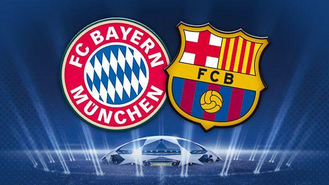 Bayern - FCB. La ida será en Múnich y la vuelta en Barcelona.