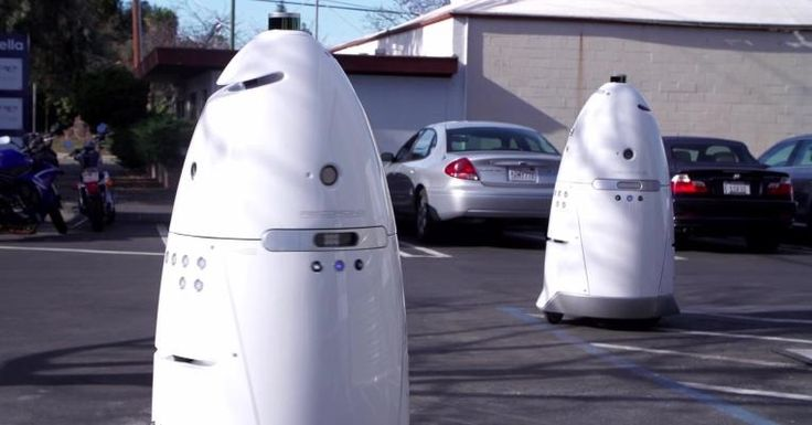 The robots mightone day rise up and take over, but a Palo Alto startup called Knightscope has developed a fleet of crime-fighting machinery it hopes to keep..