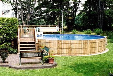 above ground pool landscaping idea